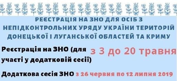 ЗНО-2019: додаткова сесія та особливості реєстрації для випускників зі сходу України та Криму