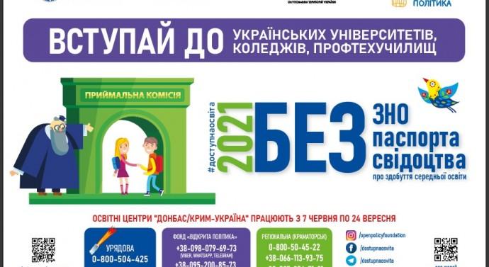Вступ-2021 для абітурієнтів зі Сходу України